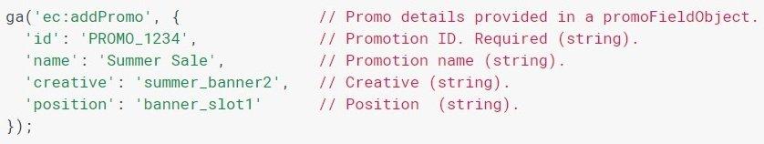 Код отслеживания для внутренней рекламы