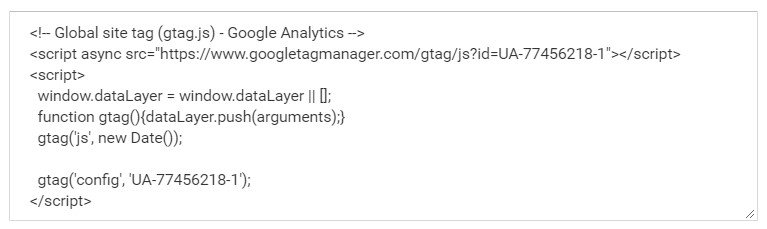 Google Analytics - Global site tag (gtag.js)
