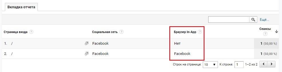 Facebook In-App Browser