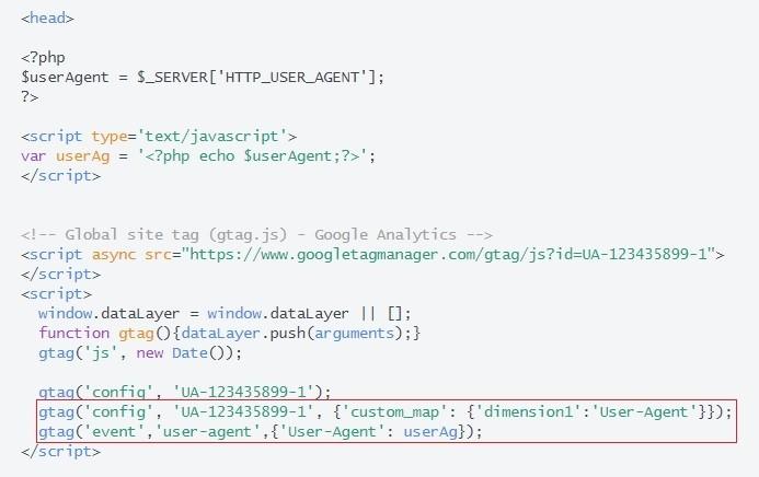 User-Agent Google Analytics