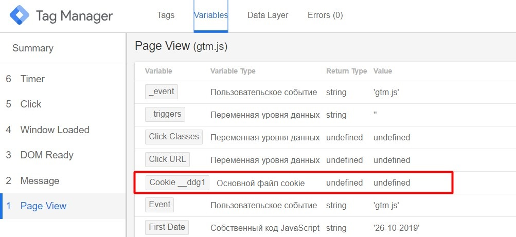 Файлы cookie и Google Tag Manager