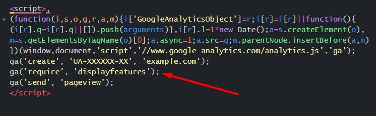 Демографические данные Google Analytics