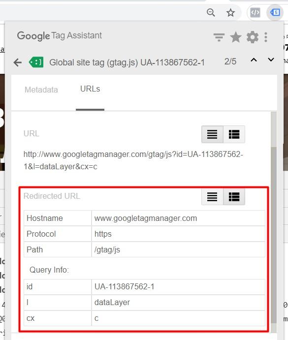 Tag Assistant и состояния счетчиков Google Analytics