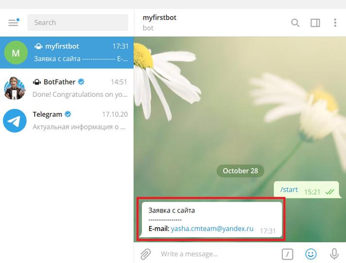 Заявки с сайта в Telegram с помощью Google Tag Manager