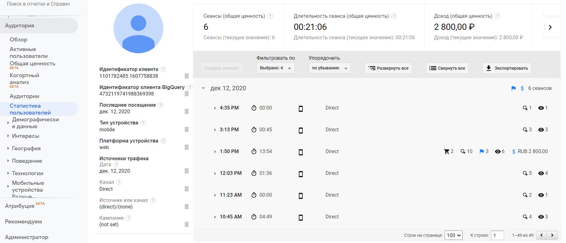 Client ID в Google Analytics 4