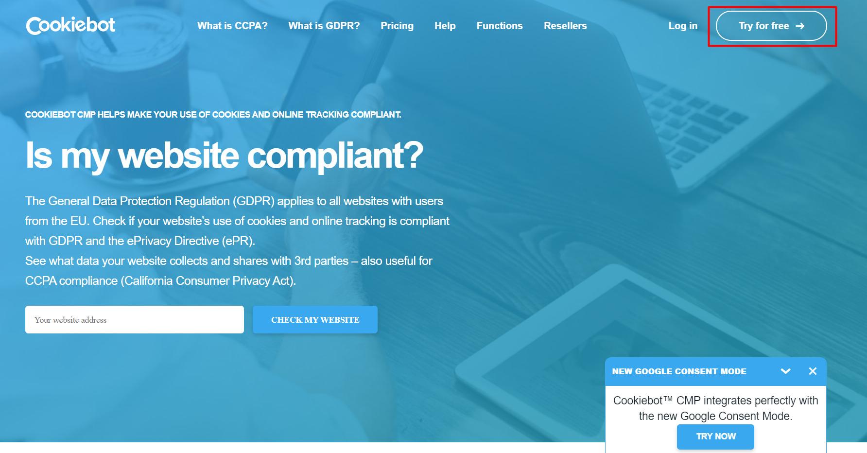 CMP-платформа Cookiebot и Google Tag Manager